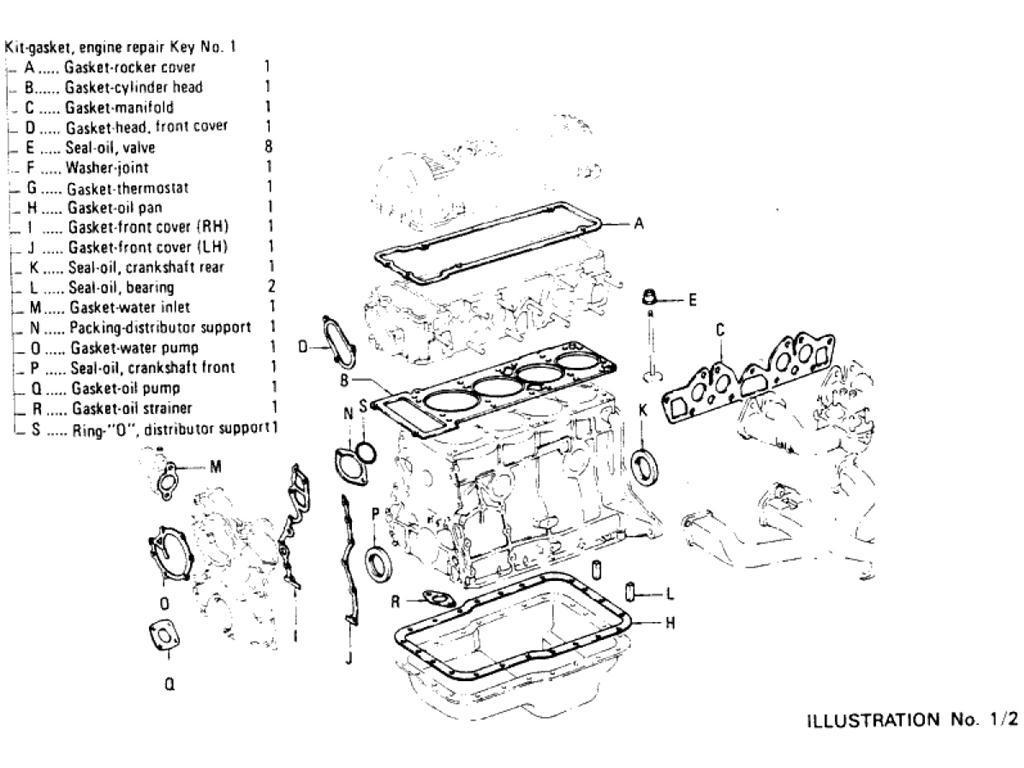 Datsun Pickup 620 Engine Gasket Kit L28