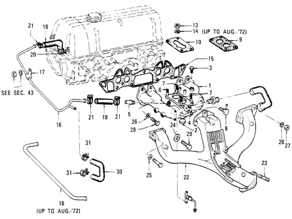Datsun Pickup 620 Manifold L16