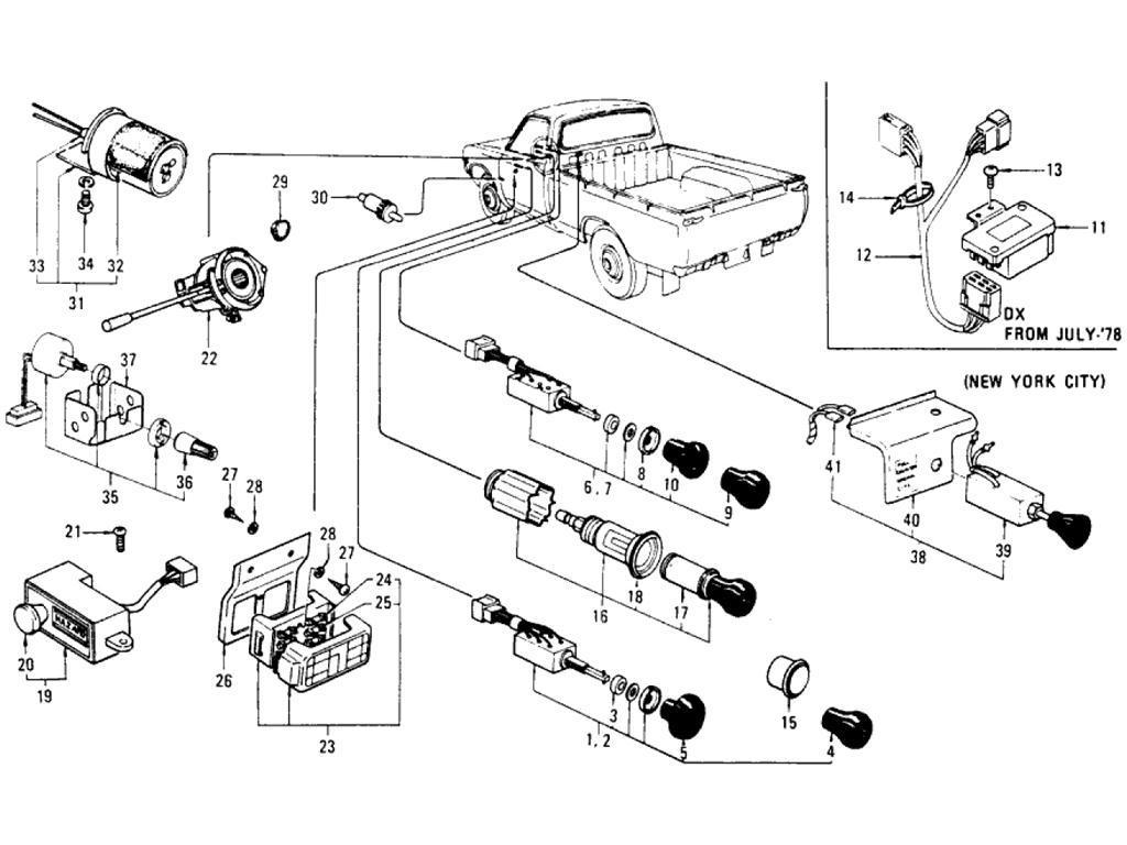 Datsun Pickup 620 Switches 2