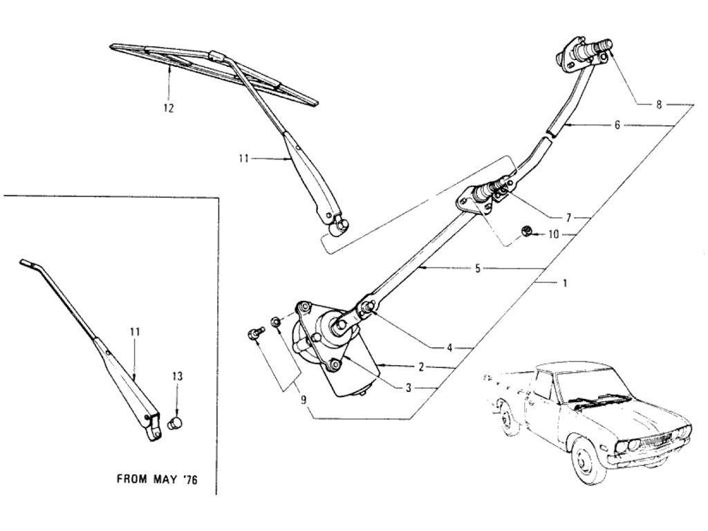 Datsun Pickup 620 Windshield Wiper