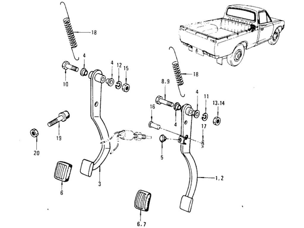 Datsun Pickup 620 Power Train Index