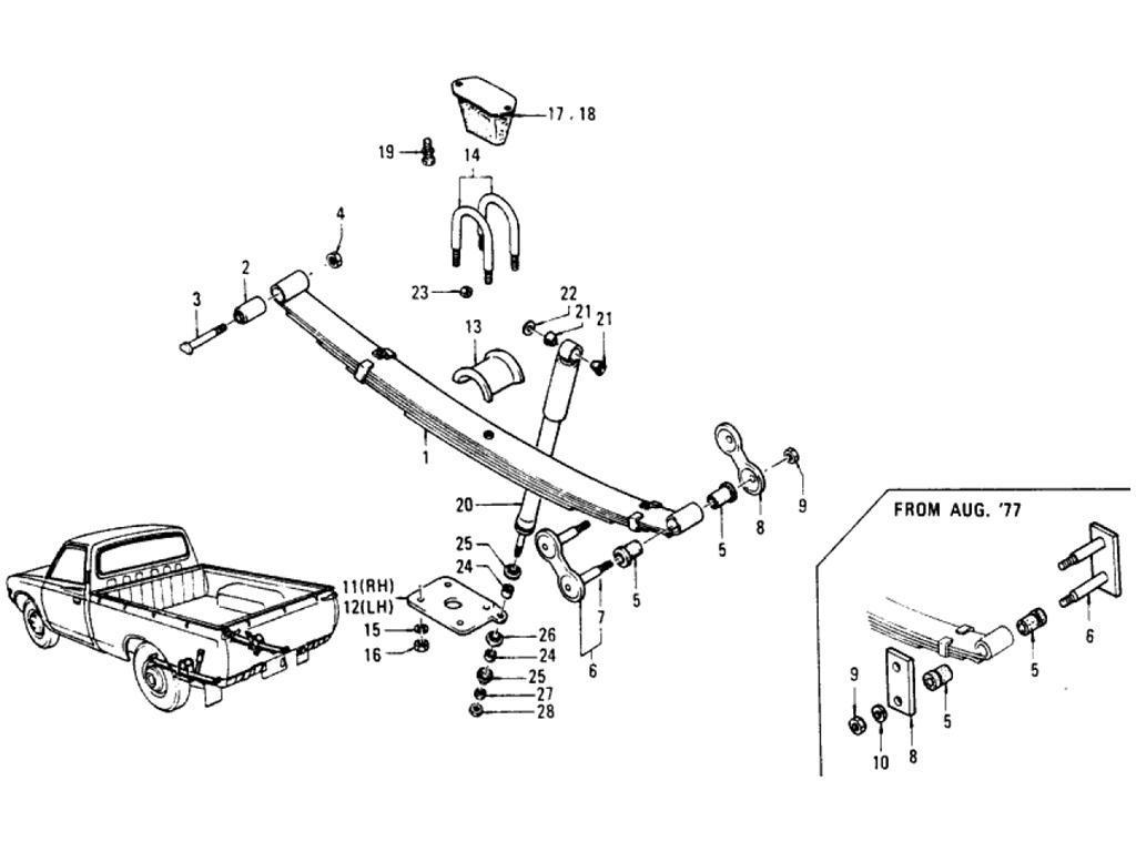 Datsun Pickup 620 Rear Suspension