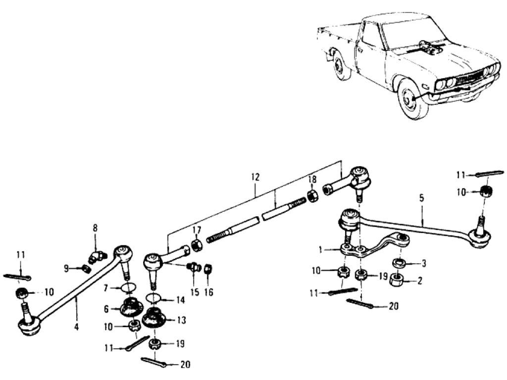 Datsun Pickup 620 Steering Linkage