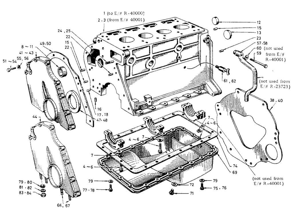 Datsun Sports R16 Cylinder Block