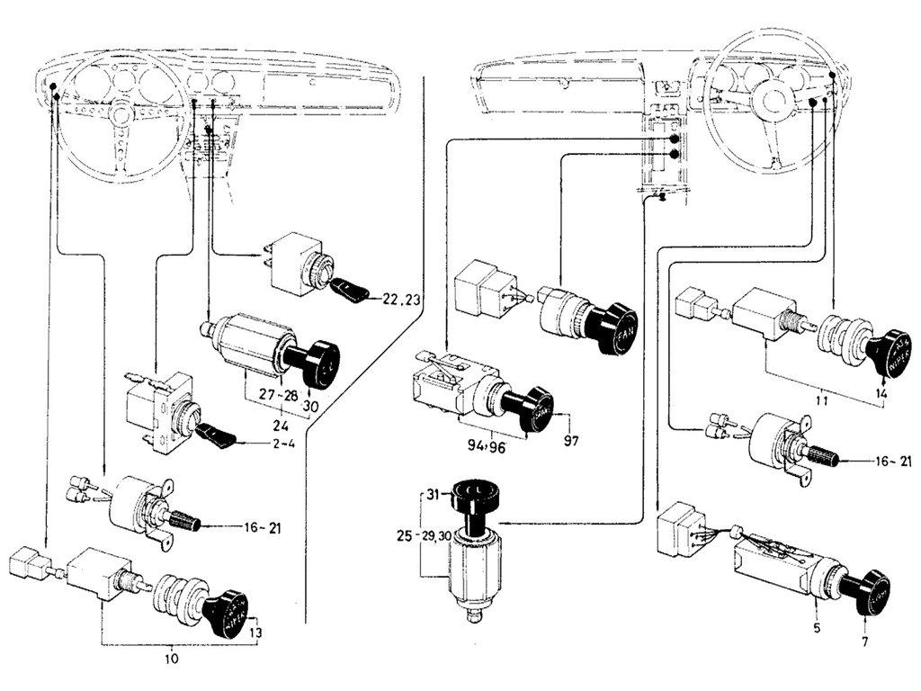 Datsun Sports Electric Unit Amp Switch Parts