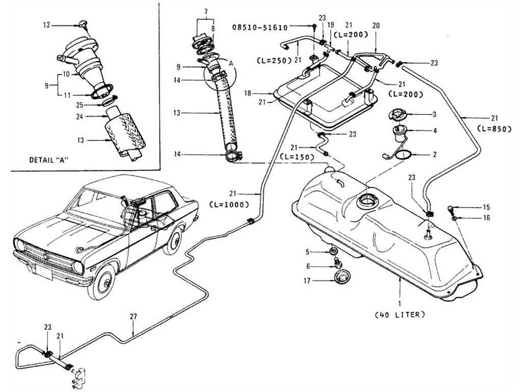 Datsun B110 Fuel Tank Sedan Evapo