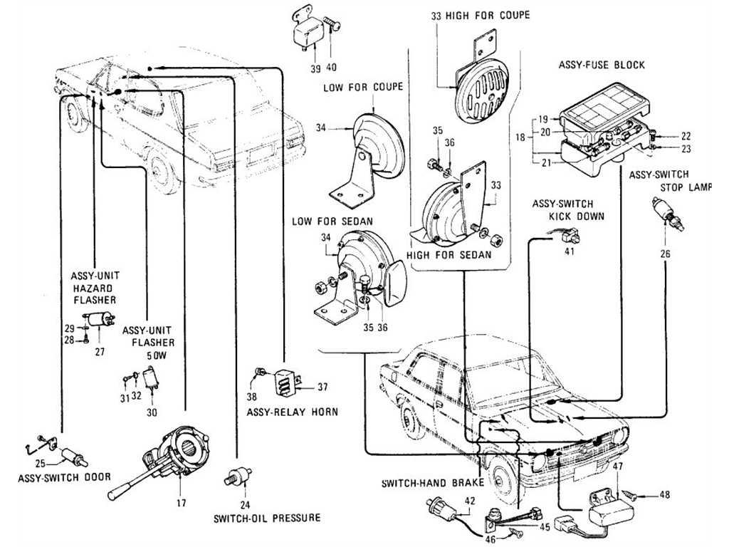 Datsun B110 Switches Flasher Unit Horn Amp Cigarette Lighter