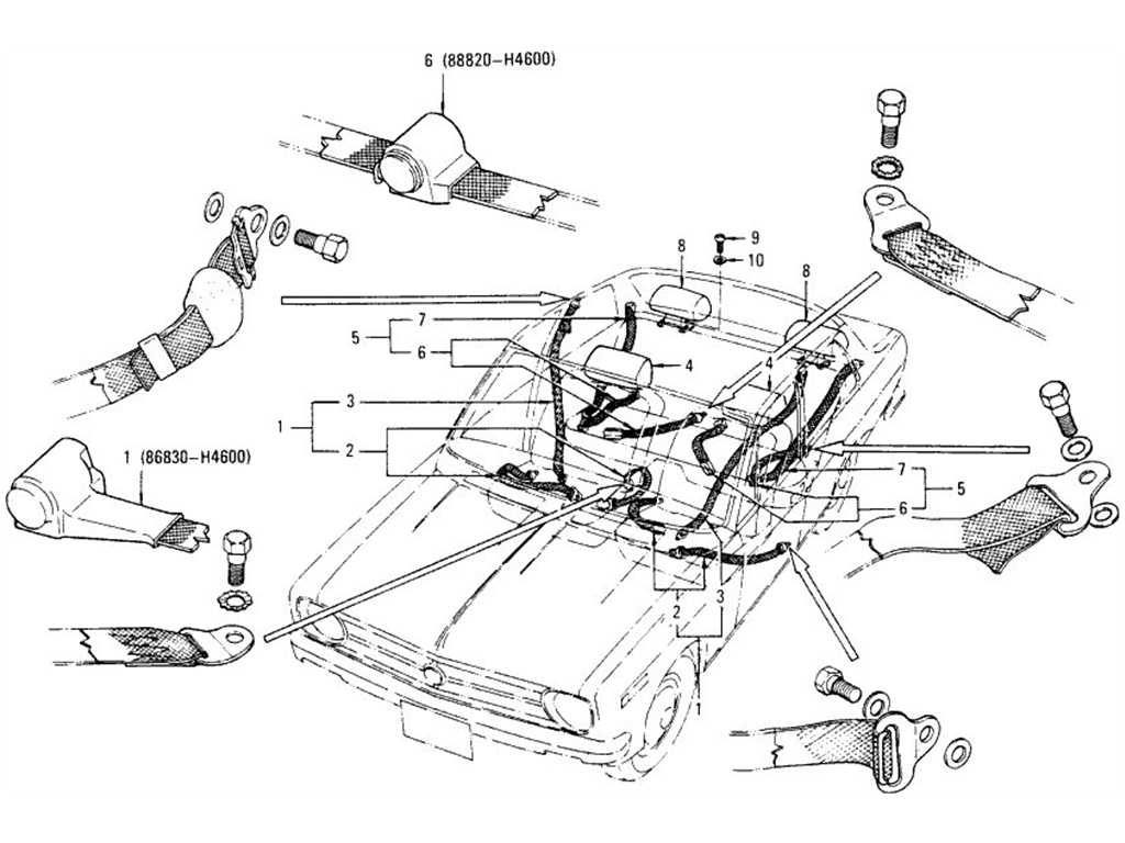 Datsun B110 Safety Belt Amp Head Rest Sedan