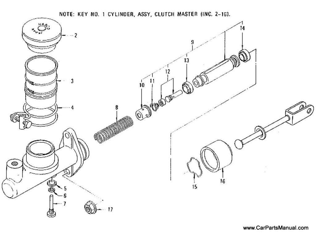 Nissan Patrol 60 Clutch Master Cylinder From Feb 77