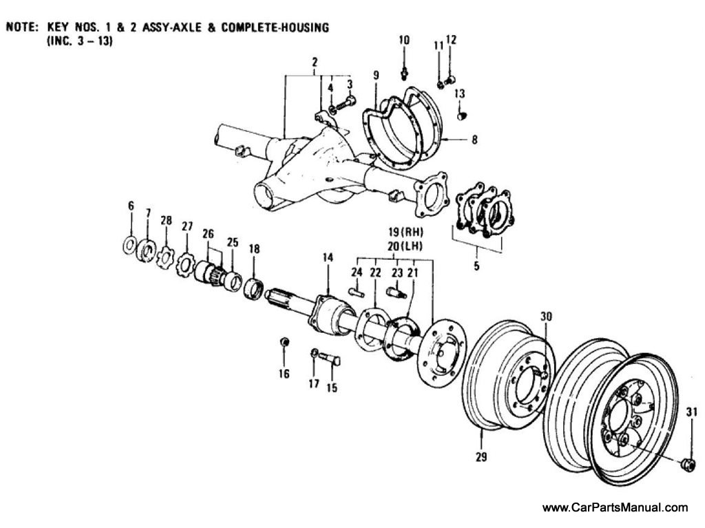Nissan Patrol 60 Rear Axle
