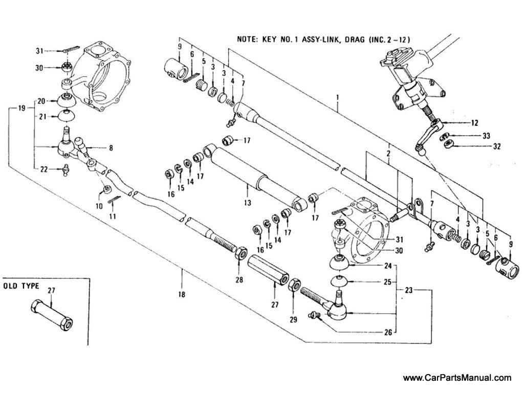 Nissan Patrol 60 Steering Linkage