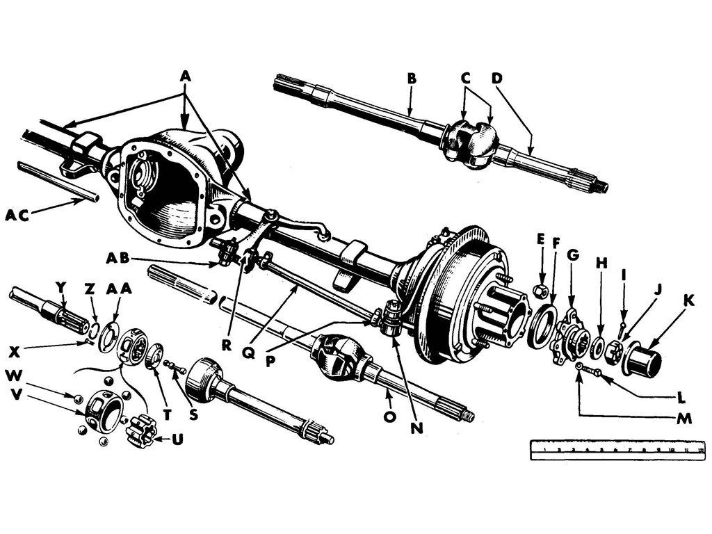 Willys Jeep Mb Front Axle