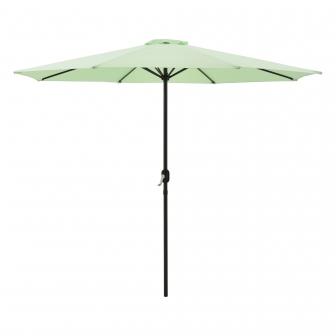 sombrilla sonn 300 x 230 cm con manivela para jardin patio terraza balcon repelente al agua parasol vara de acero verde pastel casa pro