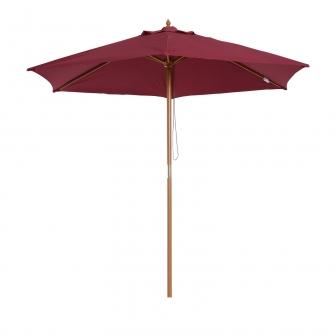 sombrilla parasol de patio terraza jardin o2 5x2 25m outsunny vino