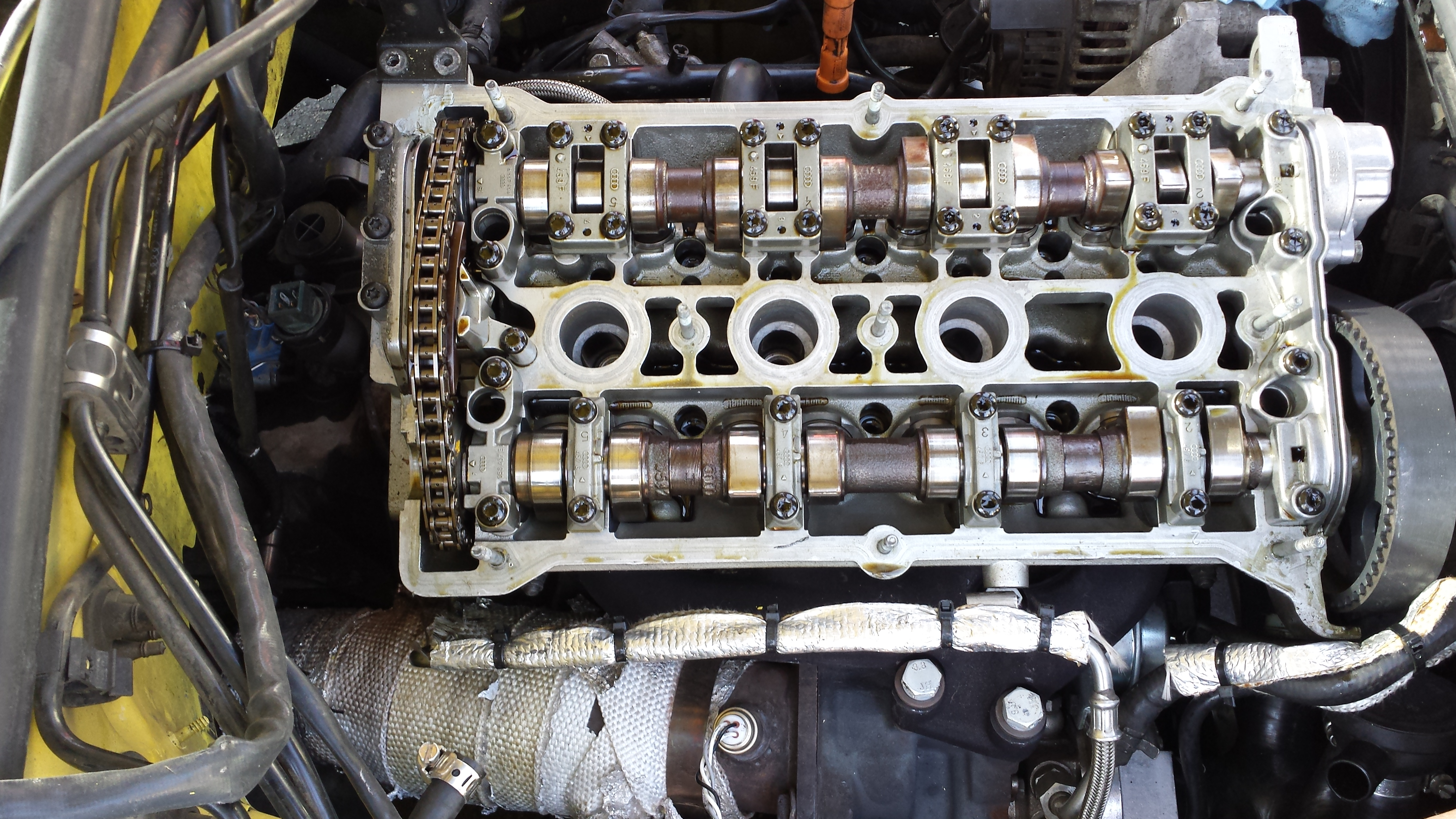 Learning how to take apart the head and change the head gasket on