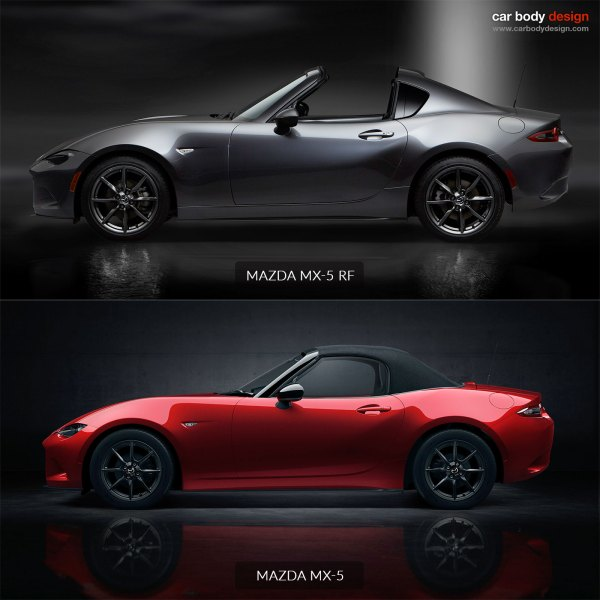 Mazda MX 5 RF fastback VS MX 5 roadster