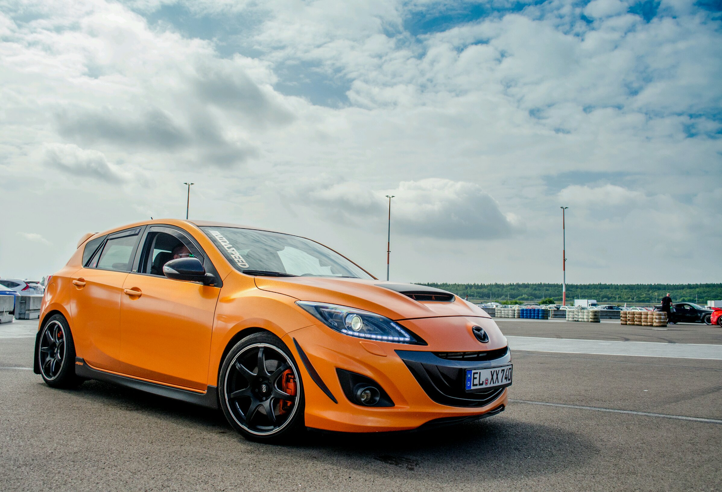 my friends mazda 3 mps with 360hp and a