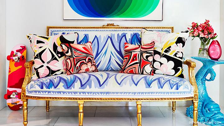 Resultado de imagem para sofá estampado na decoração