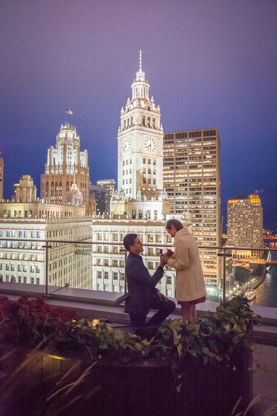 Pedido de casamento em Chicago | Foto: blog.theheartbandits.com/