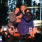 Demi Lovato hug DJ Khaled concert live perform