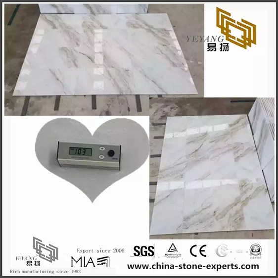 Natural Arabescato Venato White Marble Tile For Flooring