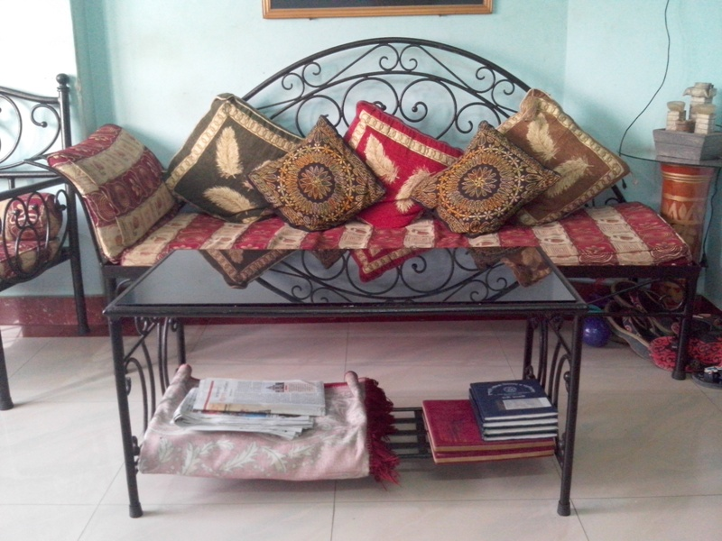 Exclusive Wrought Iron Sofa Set With Divan And Center Table Clickbd