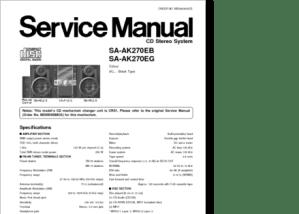 DiagramaManual Panasonic SAAK270