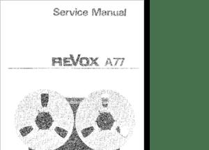 DiagramaManual Revox A77