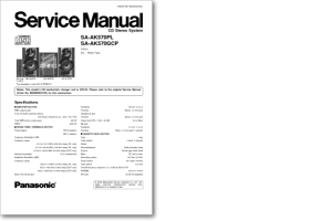 DiagramaManual Panasonic SAAK570