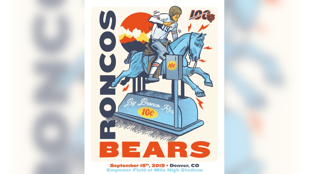 bears 2019 vintage gameday posters