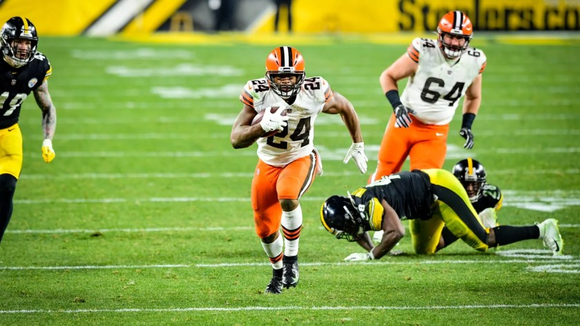 The Cleveland Browns play the Pittsburgh Steelers at Heinz Field in the Wild Card Round of the 2020 Playoffs.