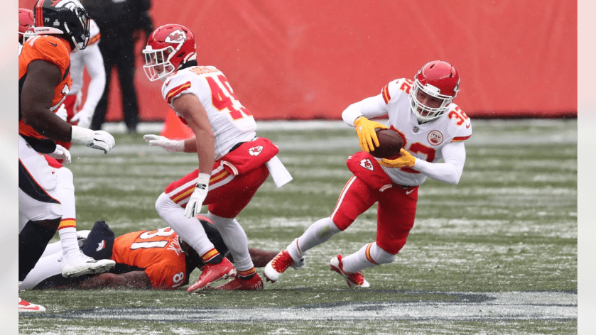 Kansas City Chiefs strong safety Tyrann Mathieu (32) during an NFL football game against the Denver Broncos at Empower Field at Mile High on Sunday, Oct. 25, 2020