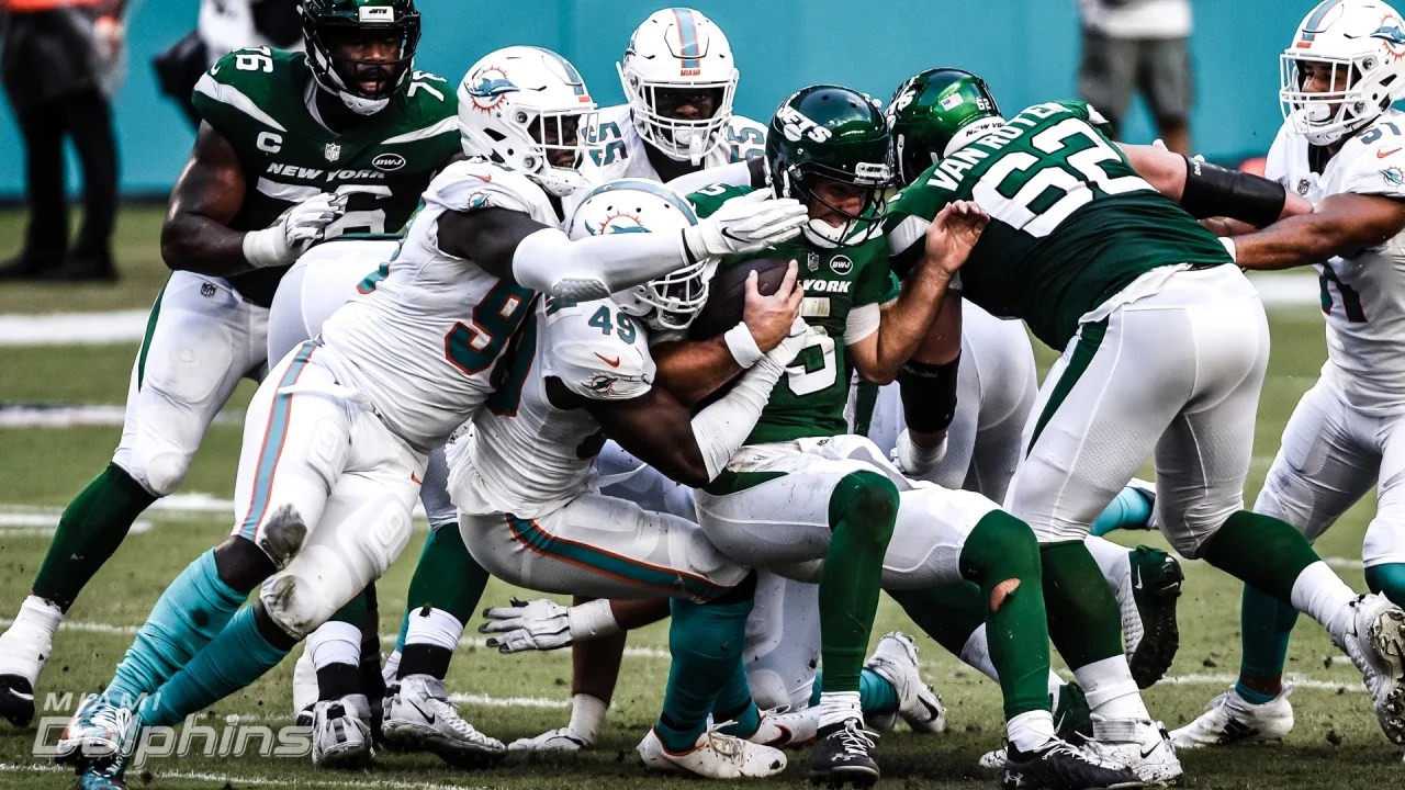 The Miami Dolphins defense swarmed the Jets in their week six shutout.