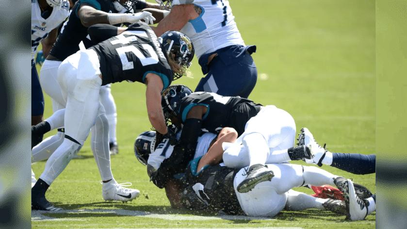 Jacksonville Jaguars against theTennessee Titans during an NFL football game, Sunday, September 20, 2020 in Nashville, Tn.