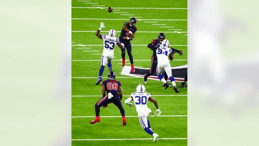 An image from the Nov. 21, 2019 regular season home game against the Indianapolis Colts. The Texans won 20-17.