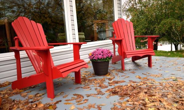 mobilier de terrasse en hiver