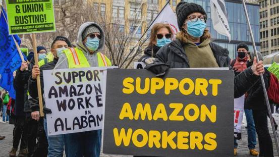 亚马逊的第一个美国仓库工会投票正式启动:工会暂时落后-e-commerce-cnBeta.COM