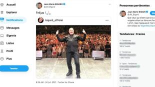 Jean-Marie Bigard was criticized by internet users after a photo of her show in Fréjus