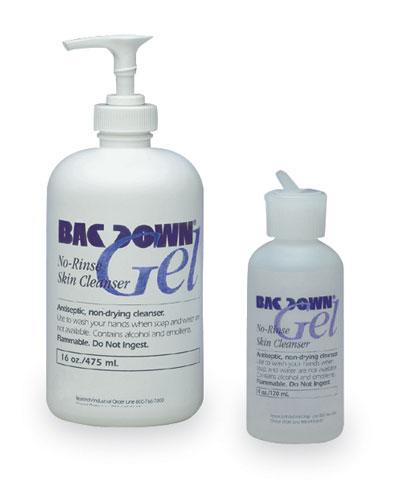 Bacdown® Gel No-Rinse Skin Sanitizer, 16 oz