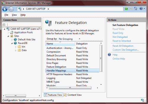 Getting RavenDB working on IIS – 500 19 – The Blog of Colin