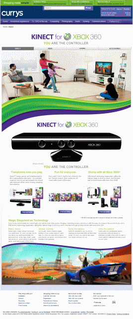 currys-kinect-page