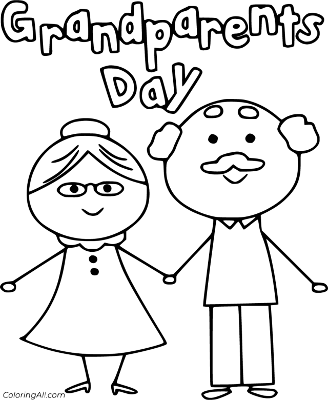 Grandparents Day Coloring Pages - ColoringAll