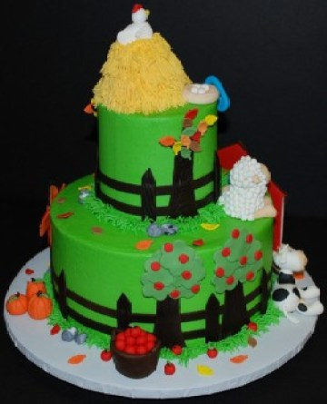 4-Farm-Daze-280x346 Color Inspiration in Cake: A Rainbow Array of Birthday Confections Color