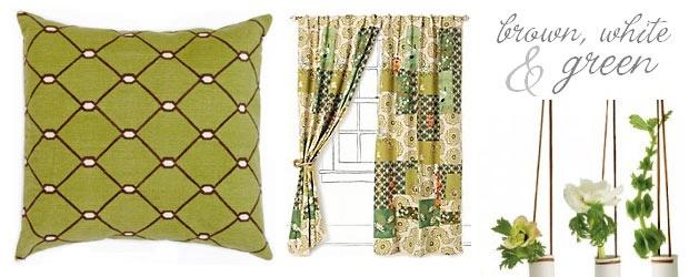 Tendencias de Diseño Interior: marrón, blanco y verde