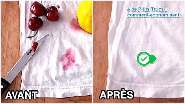 Taches De Fruits Rouges L Astuce Testee Et Approuvee Pour Les Faire Disparaitre Sans Frotter