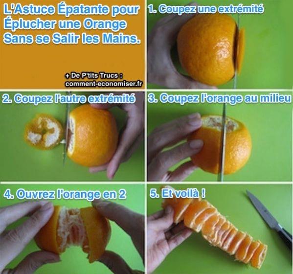 une orange sans se salir les mains