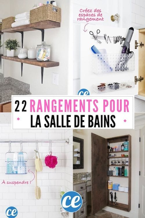22 Rangements Astucieux Pour Les Petites Salles De Bains