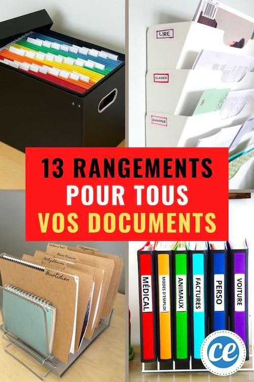 13 Super Idees Pour Ranger Vos Papiers Importants Et Les Retrouver Facilement