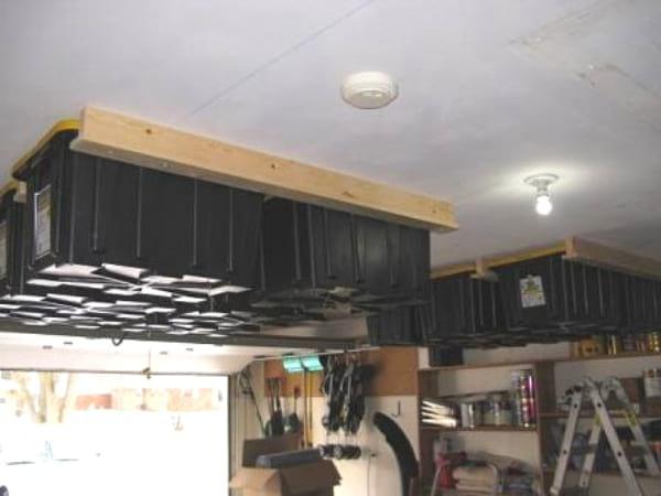 comment faire un rangement au plafond
