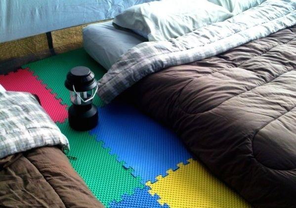 Sol de tente confortable